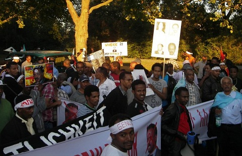 Eritreans Hold A Successful Demonstration In Giessen, Germany