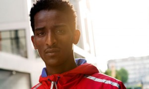 Weynay Ghebresilasie is seeking asylum in the UK, along with three other Eritrean athletes. Photograph: Sarah Lee for the Guardian