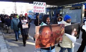 Swedish-Eritreans take part in an anti-regime protest in 2013. Photo: Ola Westerberg/TT
