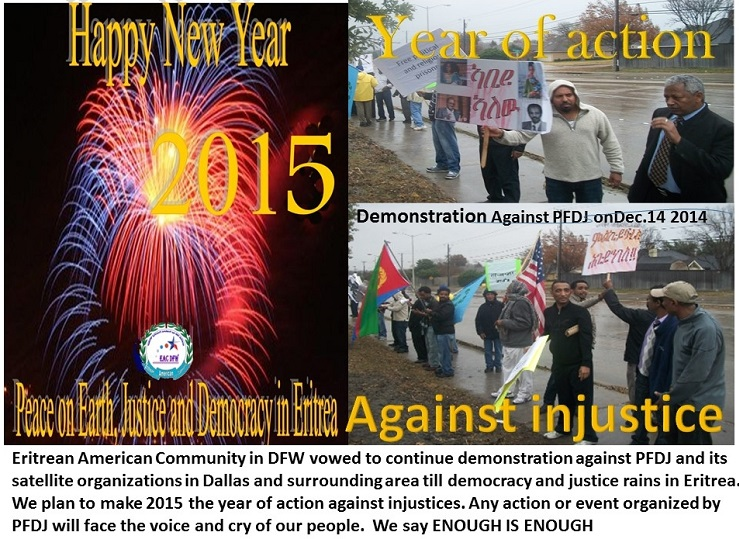 Eritrean American Community in DFW vows to make 2015 year of Action for Justice‏