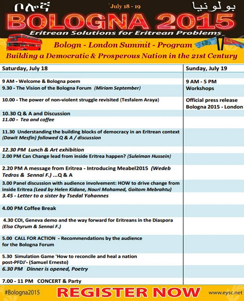 Bologna Summit 2015 - London Program